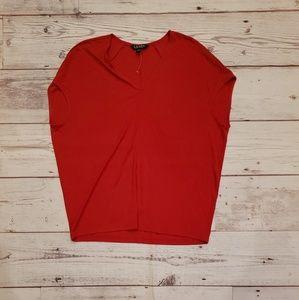 LRL Red Sleeveless Top 🥂